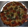 "Original EBA 12"" Thin Crust Pizza. Everything But Anchovies: Pepperoni, Sausage, Mushroom & Green Pepper"