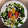 Italian Garden Salad with fresh greens, tomato, black olives, feta, with house made Italian dressing